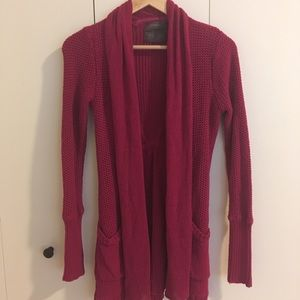 Anthropologie Guinevere cranberry sweater